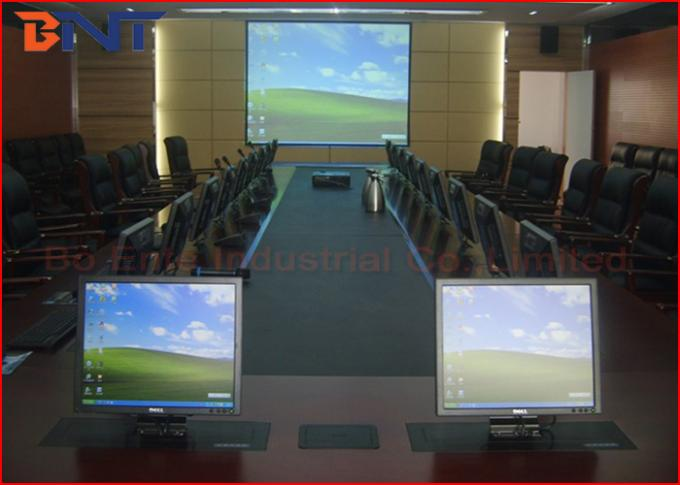 Conference Table Motorized Lift Mechanism , All In One Adjustable Computer Screen Lift