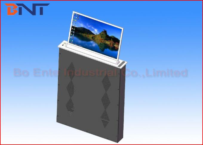 Pop Up Screen Adjustable Computer Monitor Lift For Audio Video Conference System