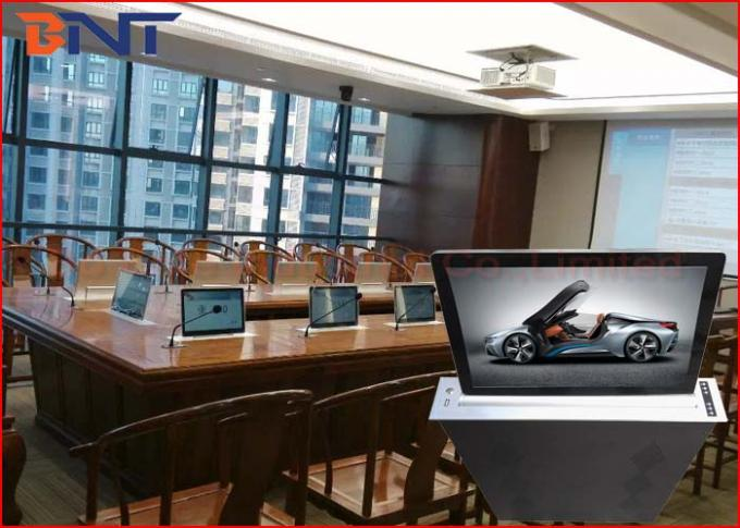 Super Slim Motorized Desktop LCD Monitor Lift With 17.3 Inch FHD Screen