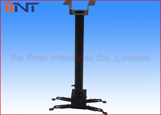 Black Retractable LCD Projector Ceiling Mount Kit for School Auditorium