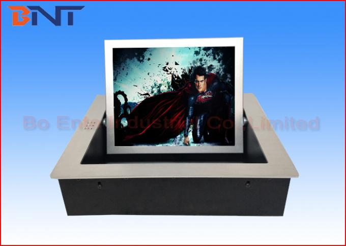 "19"" Hand Protection Motorized Monitor Lift Wireless Remote Lift With Infrared Sensor"