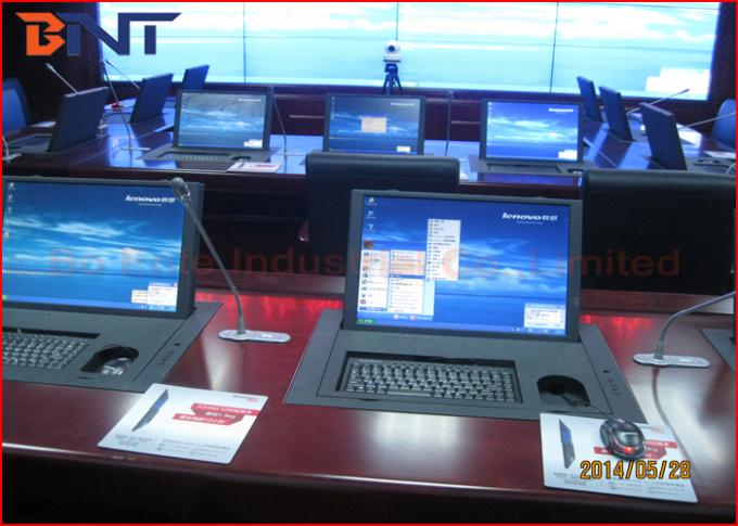 The Ministry Of National Defense Project , Flip Up Type Computer Monitor Electric Rotating Lift