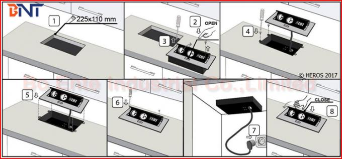 Conference Table Pop Up Outlets With Pin Power Plug And HDMI Port - Conference table pop up outlets