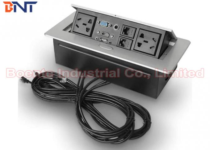 Conference Table Pop Up Outlets With 3 Pin Power Plug And