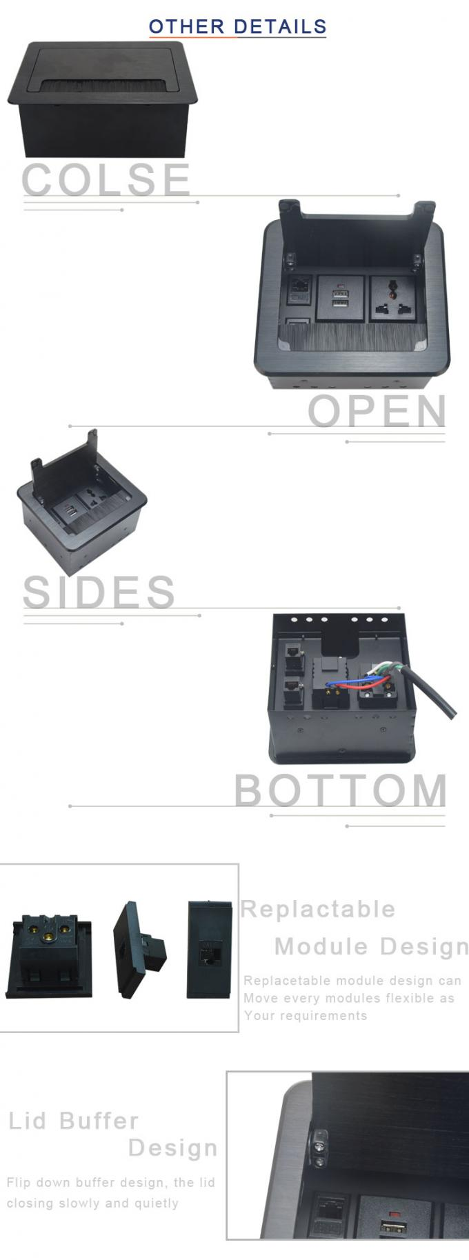double usb charger interface desk flip up socket  BF407