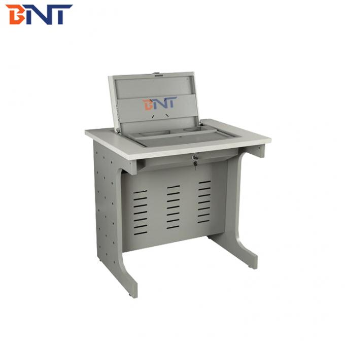 smart flip up student desk 120 degree rotatable angle with PC slot