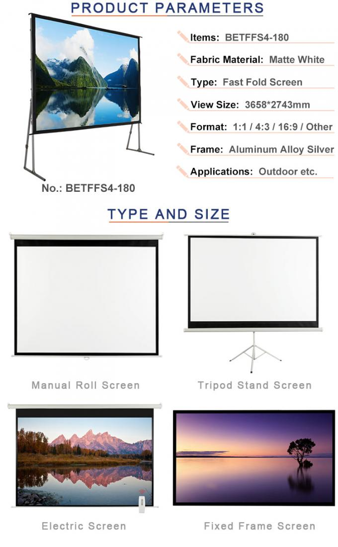 180 inch  foldable projection screen