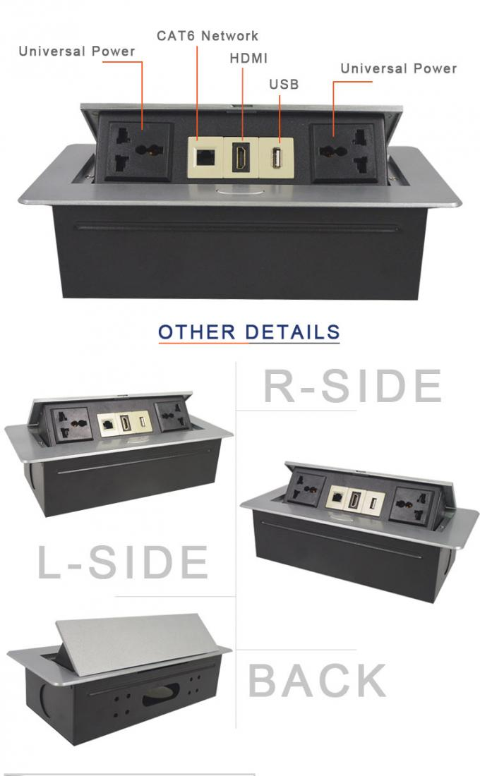 available replace module design  used in conference room desktop hidden pop up socket