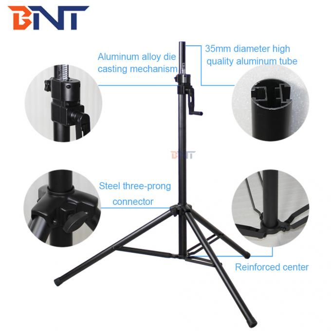 130cm lowest height easy adjustment manually tripod projector stand