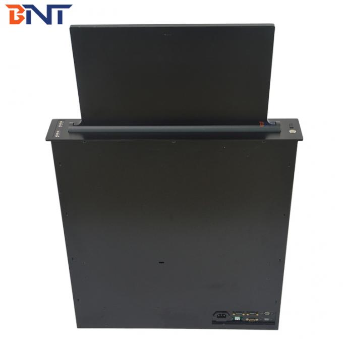 Theft Prevention Motorized Monitor Lift With 17.3 Inch FHD LED Screen