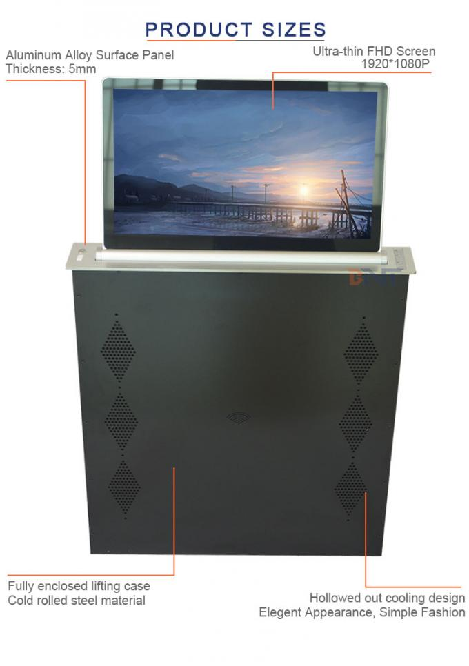 All In One Computer LCD / LED Monitor Screen Motorized Pop Up Lifting Mechanism 21.5 Inch