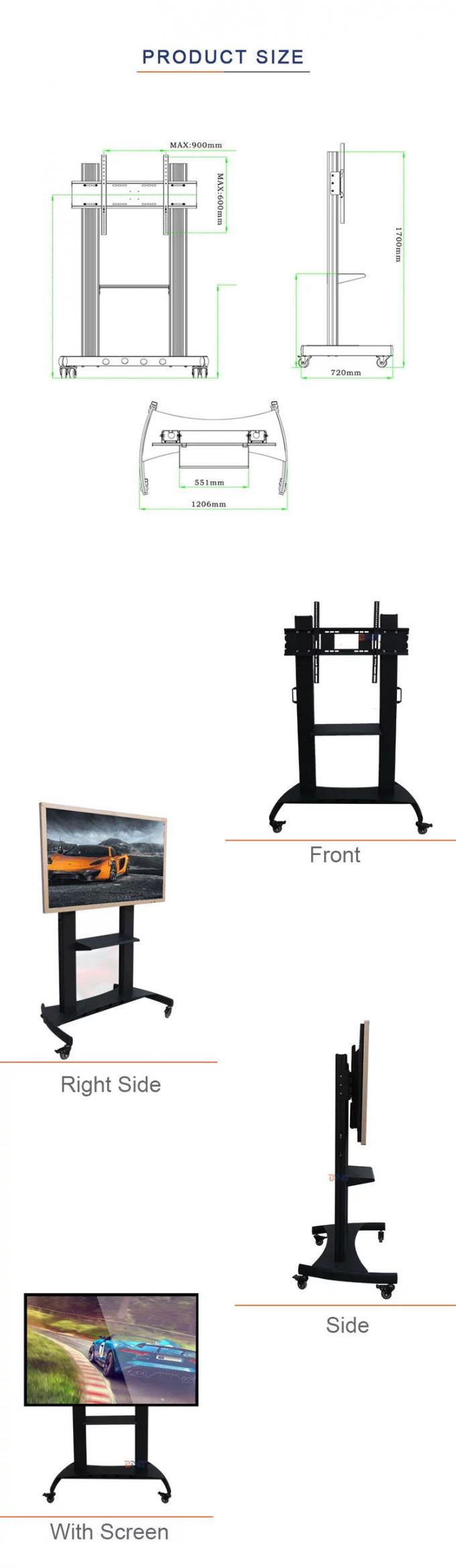 Landing Mobile TV Stand Remote Control / Manual Control / Electric Control Support