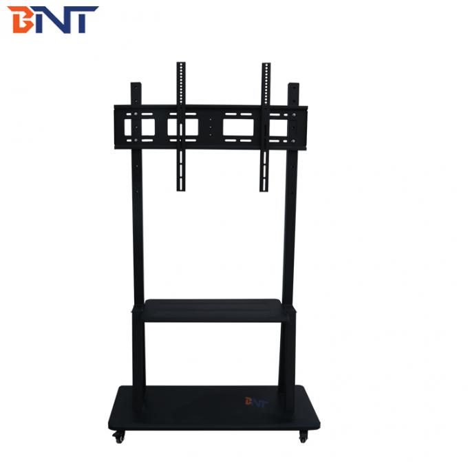 170CM Height Mobile TV Stand Black Color With Horizontal Design