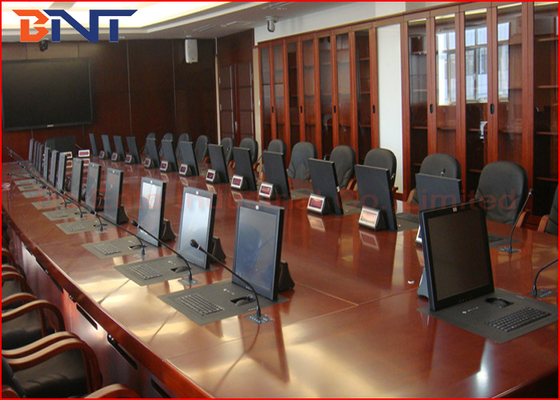 "Public Security Department Project , Flip Up Type Motorized LCD Monitor Lift With 19"" Screen"