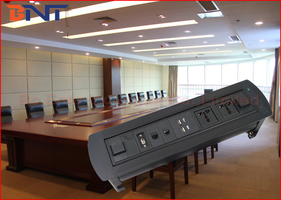 China Multi - Function Conference Table Outlet With 2 USB Power Charger supplier