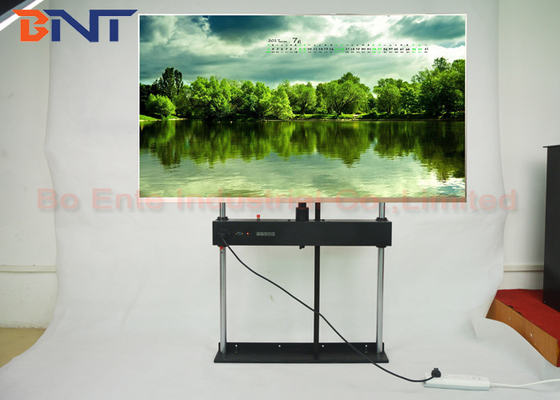 360 Degree Swivel Motorized TV Lift , RF Remote Control LCD TV Lift Stand