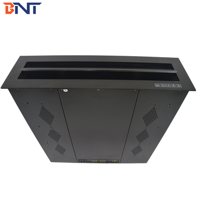 China Desktop Computer Monitor Lift , Automatic Motorized LCD Lift Tilting Angle 15 Degree supplier