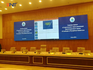 "Public Education & Training Project in Kazakhstan , Ultra Thin Desktop Monitor Lift With 17.3"" FHD Screen"
