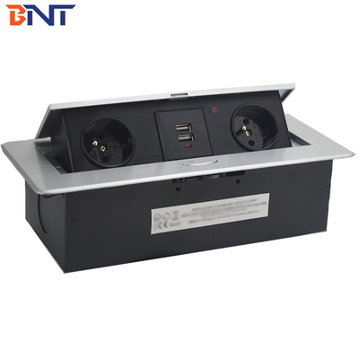 China Zinc Alloy Material Tabletop Pop Up Hidden Outlet Keep Product In Stock With French Power Plug supplier
