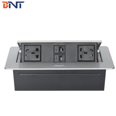 Supply Conference Room Table Pop Up Multimedia Socket  Keep Product In Stock  Zinc Alloy Material