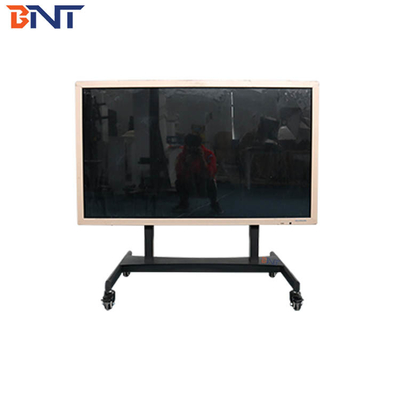 China Horizontal Design Rolling TV Mount , Electric Lifting Floor Stand TV Mobile Cart supplier