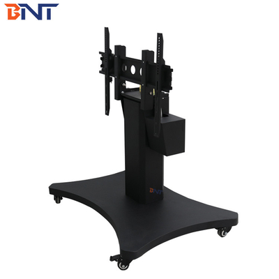 China Professional Electric Lifting Mobile TV Stand With 90 Degree Overturn Angle supplier
