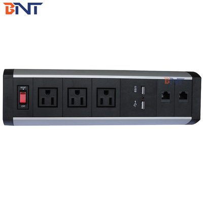 China black clamp on desk movable socket replace modular as required BTS-403US factory