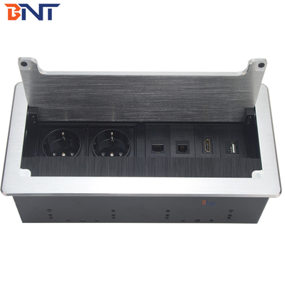 used in office room  table flip up  hidden socket with  double EU power BF805