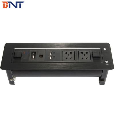 China double usb charger motorized flip up rotating socket  used in conference system EK6304 supplier
