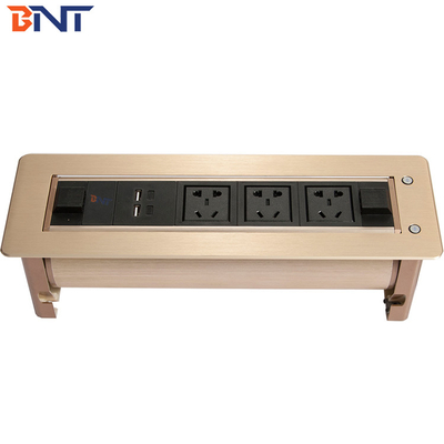 China Conference Table Outlet With 3 Universal Power Plugs supplier