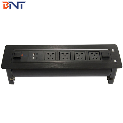 Custom Conference Table Outlet , Motorized Flip Up Multimedia Desktop Socket