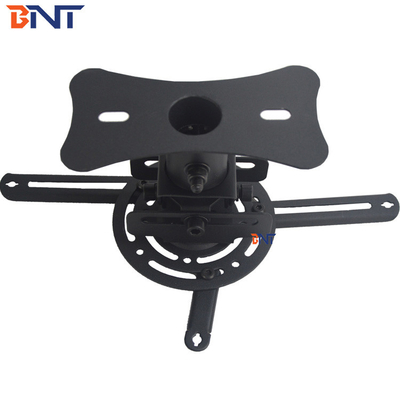 China Black Drop Down Projector Ceiling Mount With Short Plate Extension Size 13CM supplier