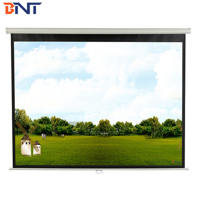 China 100 inch electric projection screen   with ultra-narrow edge supplier