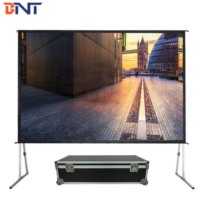 China Fast Fold Motorised Projector Screen 84 Inch With Aluminum Alloy Frame supplier