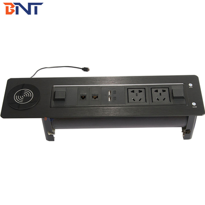 China 180 degree rotating angle conference table power outlet  EK9804 supplier