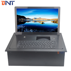 China aluminum alloy material supply keyboard electric flip up monitor BF7-15.6A factory