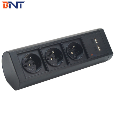 China available movable modular design with different places clamp on desk socket factory