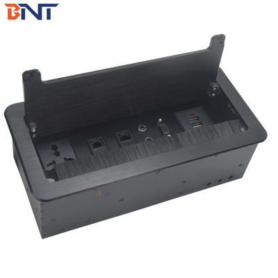 China for office room lid buffer design with cable length flip up desk socket supplier