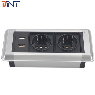 China mini socket box available customized with moduler design table mount outlet factory