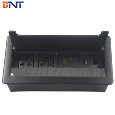 China Flip Up Desktop Electrical Sockets Lid Buffer Design For Office Room supplier