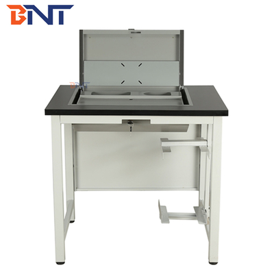 Rotatable Computer Monitor Pop Up Box For Training Room / Meeting Room