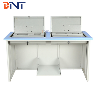 Customizable Flip Top Computer Desk For Multimedia Classroom / Conference Room