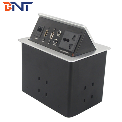hydraulic pop up power socket solution for office furniture