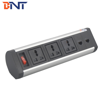 China modular design aluminum alloy material multimedia power socket outlet factory