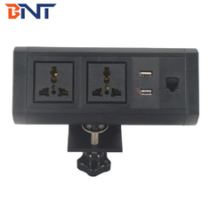 movable style with double universal power plug clamp on table socket BTS-409