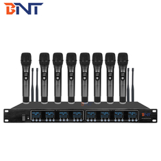 8 Channels Wireless Conference System Microphone Frequency Band UHF 640MHz - 690MHz