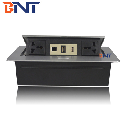 China Professional Pop Up Desk Power Outlet For Office Room / School / Factory supplier