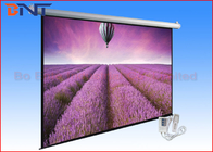 China Retractable Tensioned Projection Projector Screen 120 Inch With Romote company