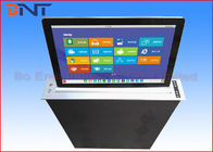 45 Degree Tilting Conference LCD Monitor Lift With 15.6 Inch Retractable Screen