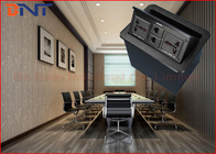 China Office Conference Desktop Power Sockets Aluminum Alloy Brushed With Network company